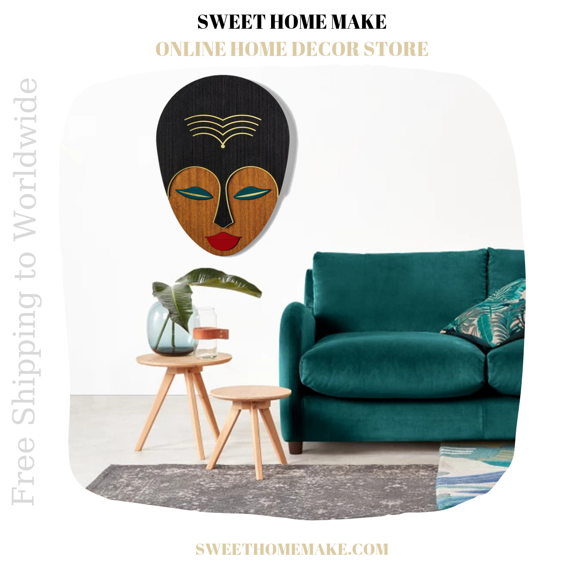 Woman Wall Art by African Wall Mask