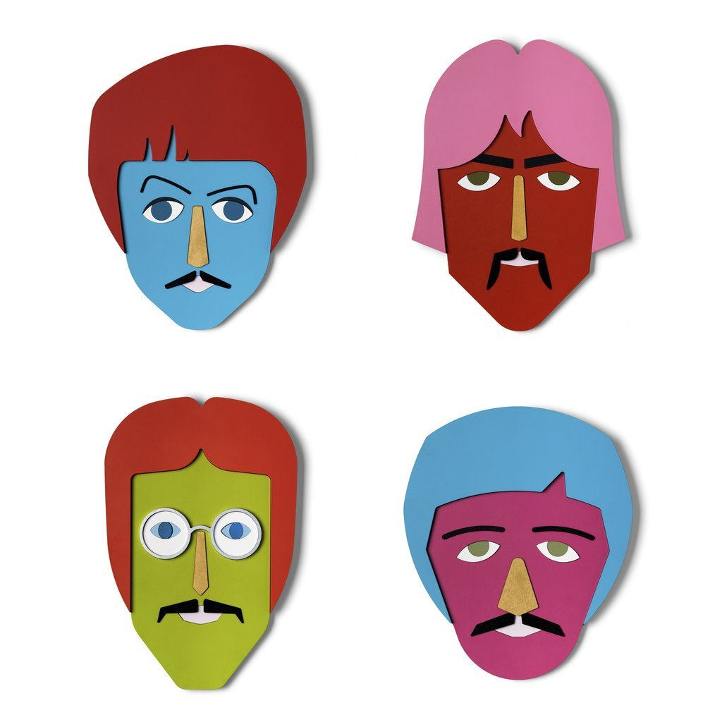 Wood Colorful The Beatles Wall Art & The Beatles Wall Decor