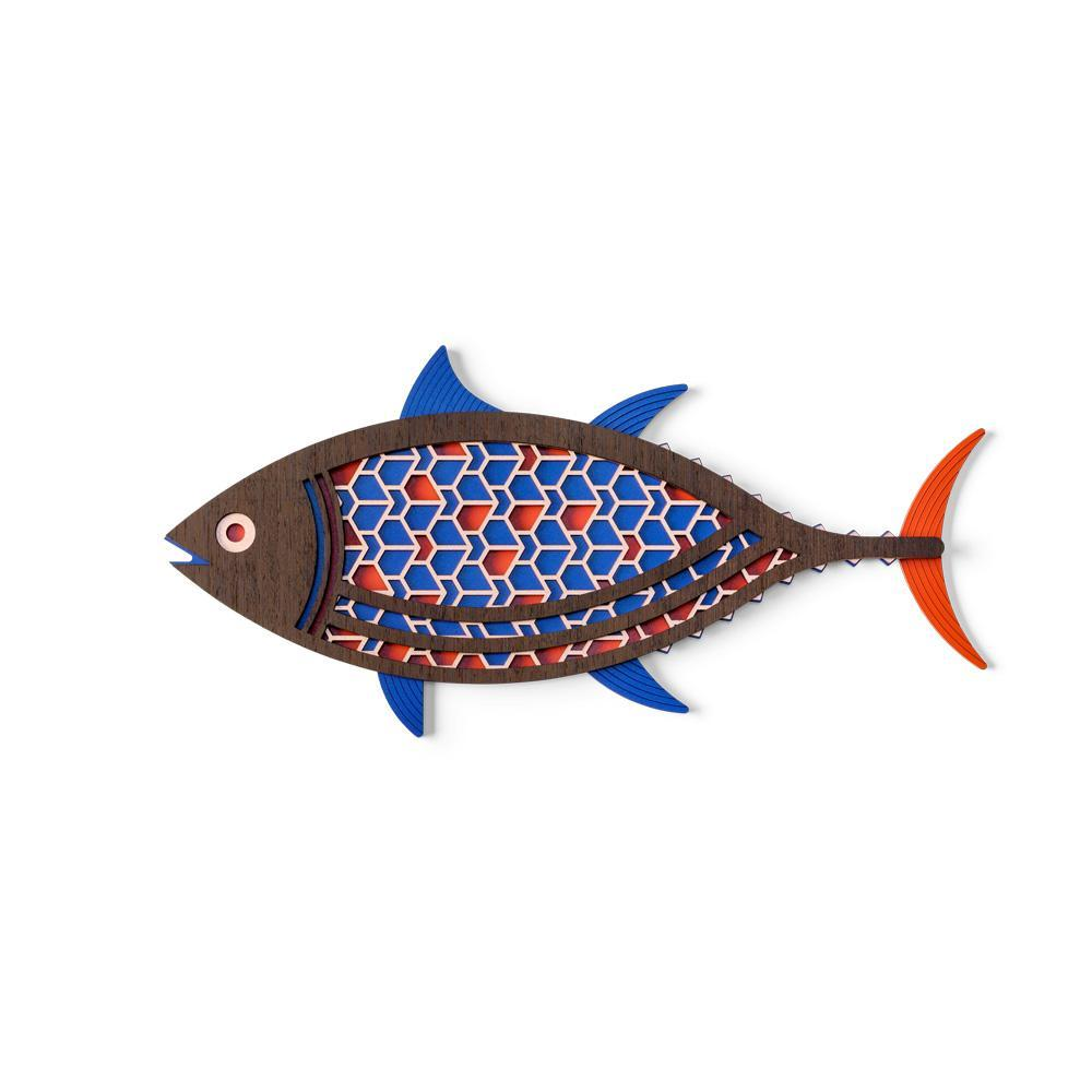 Wooden Colorful Contemporary Fish Wall Art For Home Fish Wall Decor