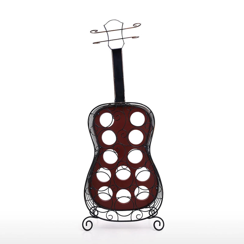 12 Bottle Wine Rack Holder by Guitar Decor Ornament Gifts for Music & Wine Lovers