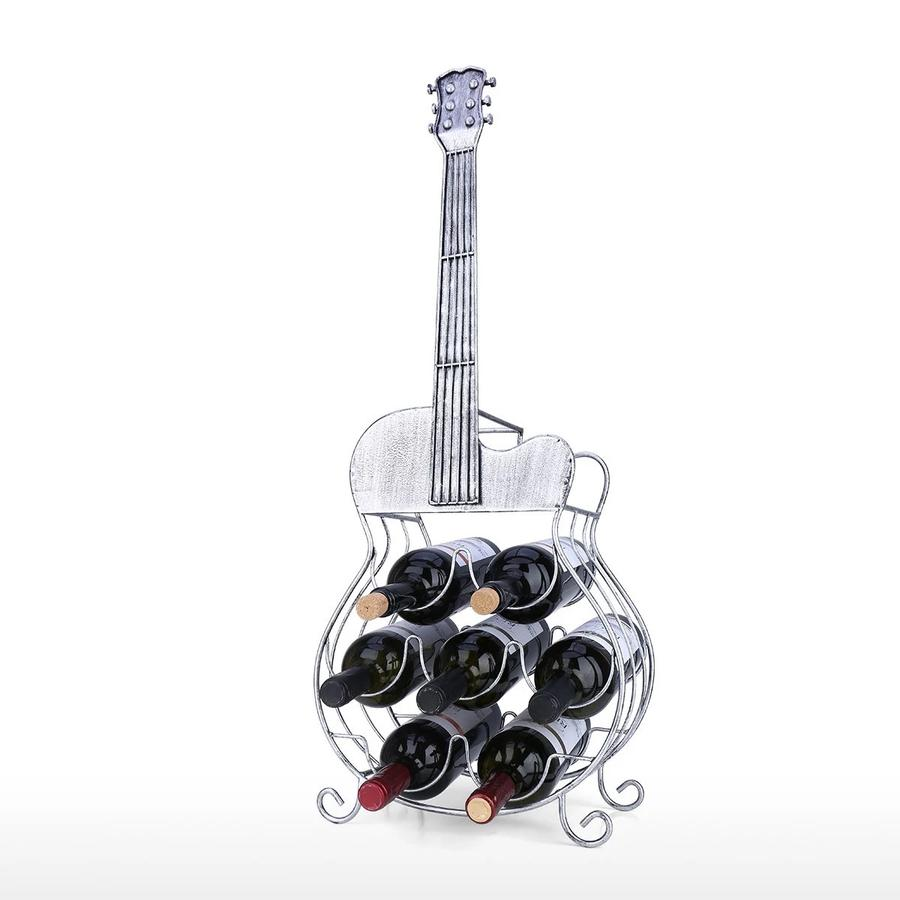 7 Bottle Guitar Wine Rack