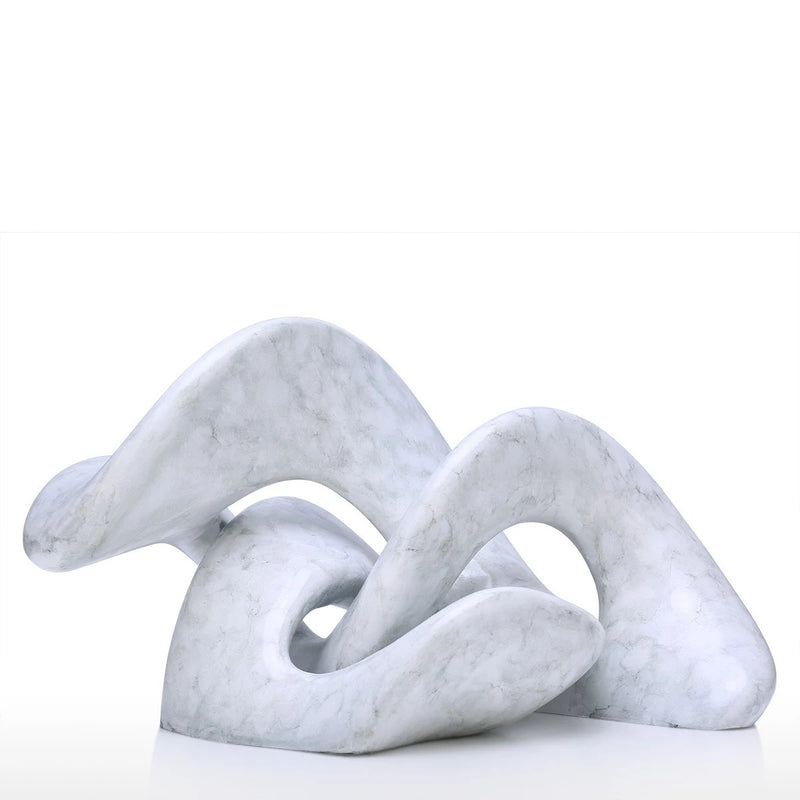 Abstract Geometric White Sculpture For Sweet Accent Home Decor