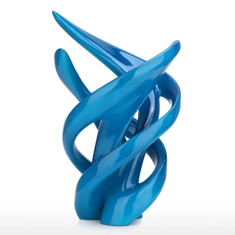 Abstract Modern Geometric and Decorative Sculpture For Accent Decor
