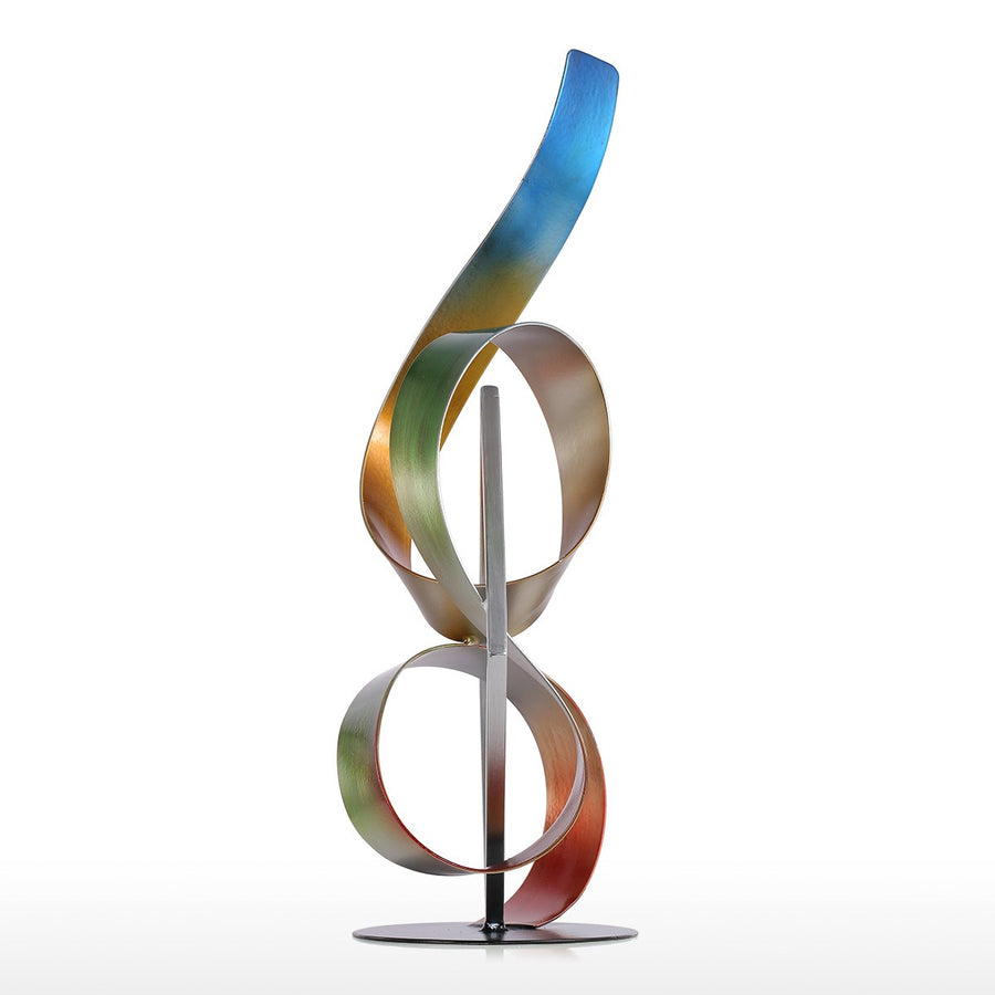 Abstract and Metal Sculpture with Sculpture for Christmas Decorations and Home Decor