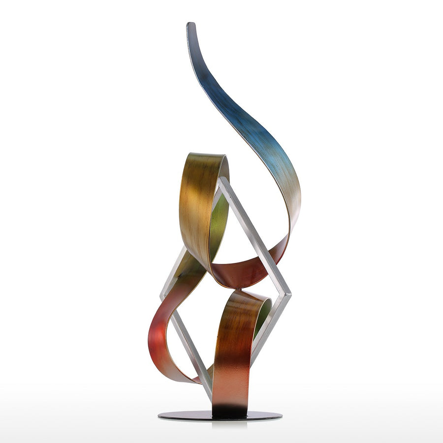 Abstract and Modern Art with Sculpture for Christmas Decorations and Home Decor