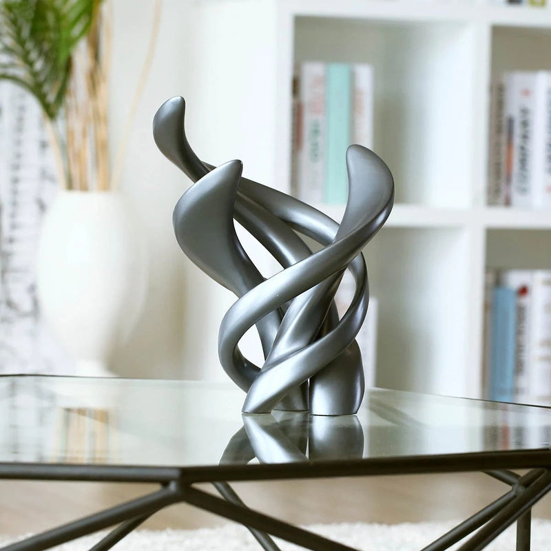 Accent Decor with Abstract Sculpture Grey Bedroom & Living Room Ideas