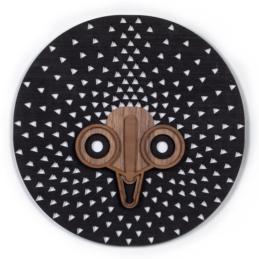 African Wall Art on the Wooden Mask Afrocentric Wall Decor