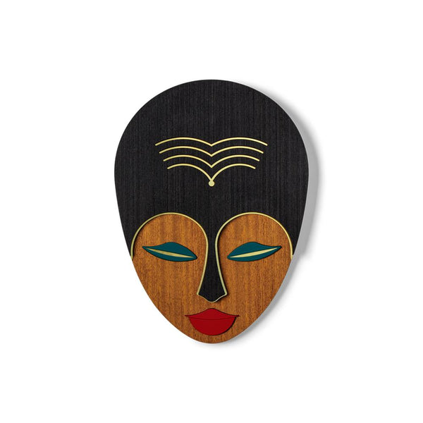African Woman Mask Wood Wall Art