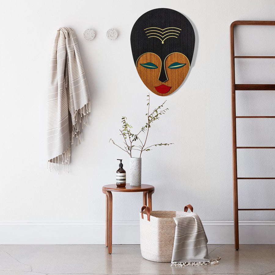 African Woman Wall Art by Wood