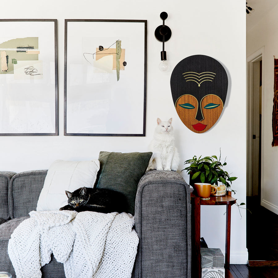 Afrocentric and African Wall Art on the Wooden Boho Wall Decor