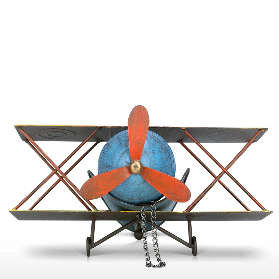Airplane Figurine Ornament Home Decor with Wine Bottle Holder Rack