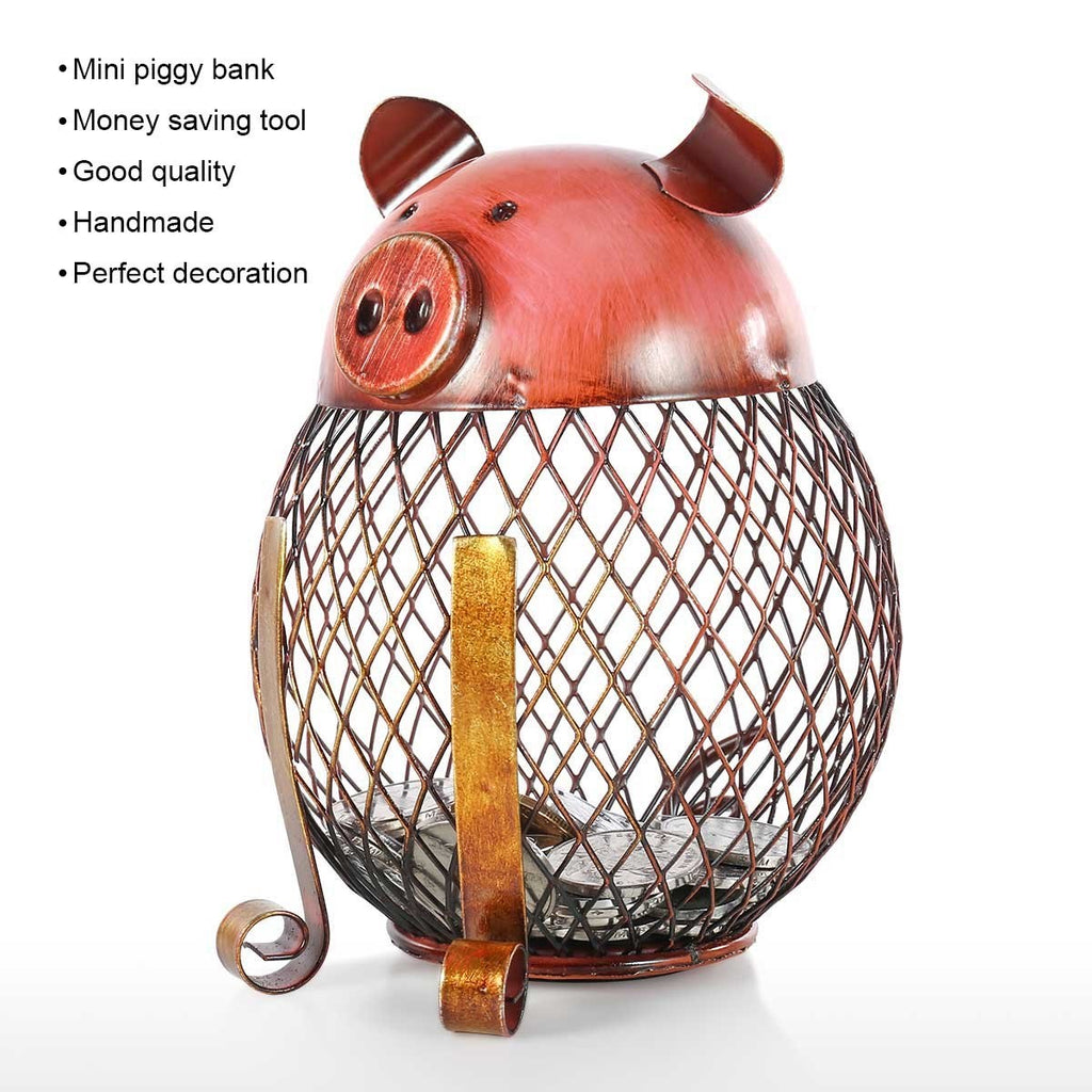 Animal Piggy Bank with Metal Gifts for Kids