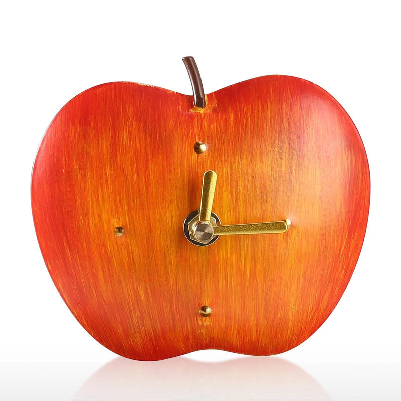Apple Kitchen Decor with Vintage and Retro Analog Apple Clock Ornaments and Figurines