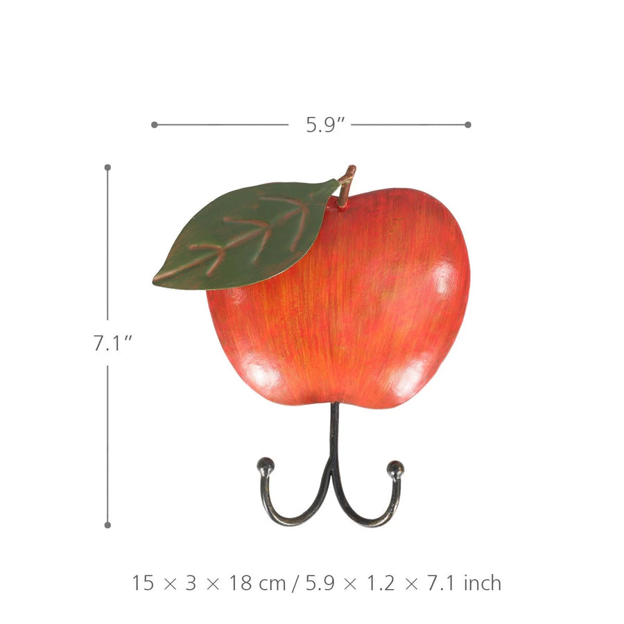 Apple Kitchen Ornament and Apple Kitchen Home Decor with Metal Apple Wall Art Hook