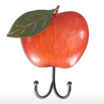 Apple Wall Hook with Vintage Metal For Apple Metal Wall Art