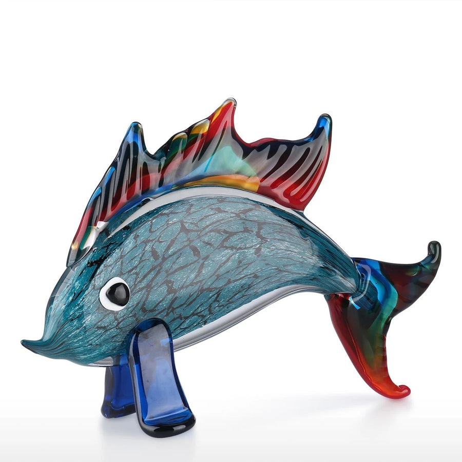 Aquarium Decor and Gifts with Dolphin Fish Glass Sculpture