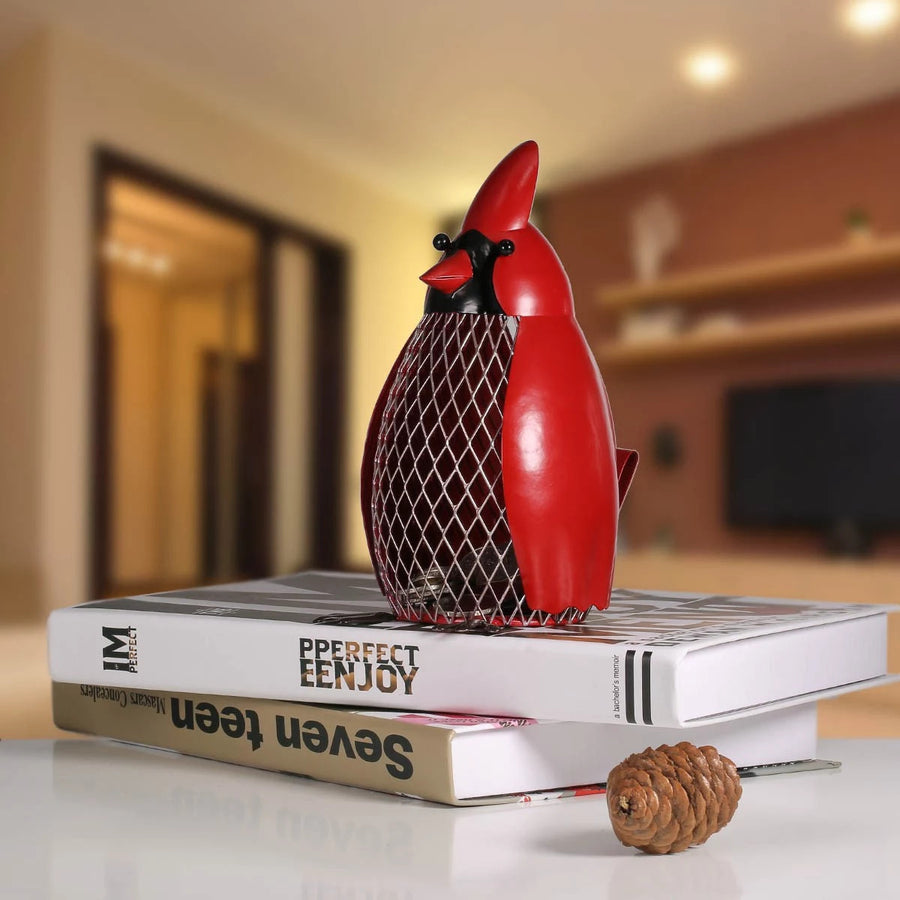 Bird Storage Ornament for Bookcase Decor