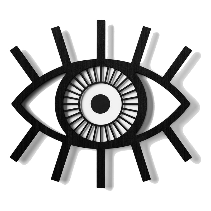 Black Evil Eye Wall Hanging by Umasqu
