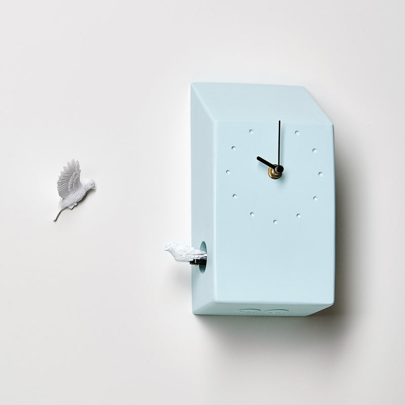 Blue Cuckoo Clock with Minimal and Modern Design