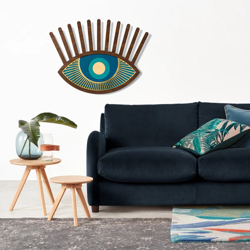 Blue Eye Artwork by Wood Wall Art