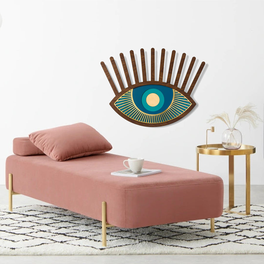 Blue Eye and Eyelash Wall Art