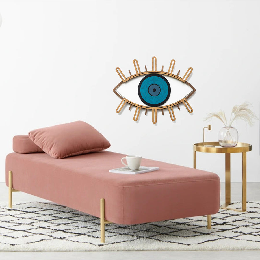 Blue Eye and Eyelash Wall Art by Wood