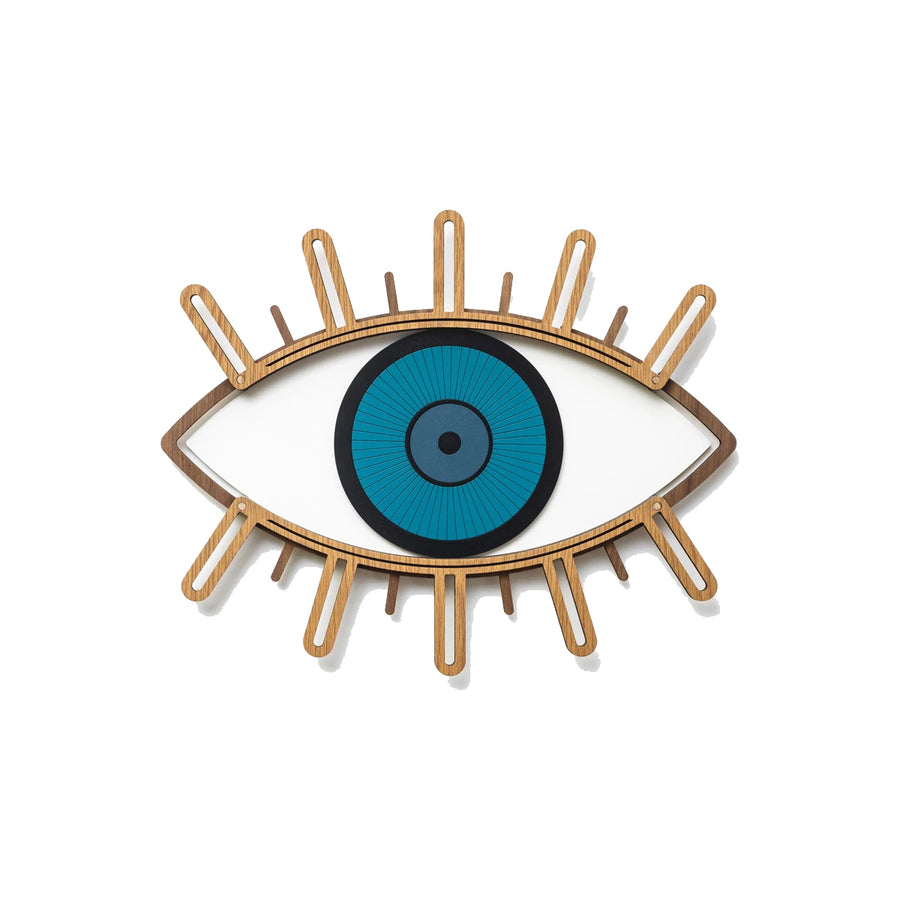 Blue Eye and Eyelash Wall Decor by Wood Wall Art