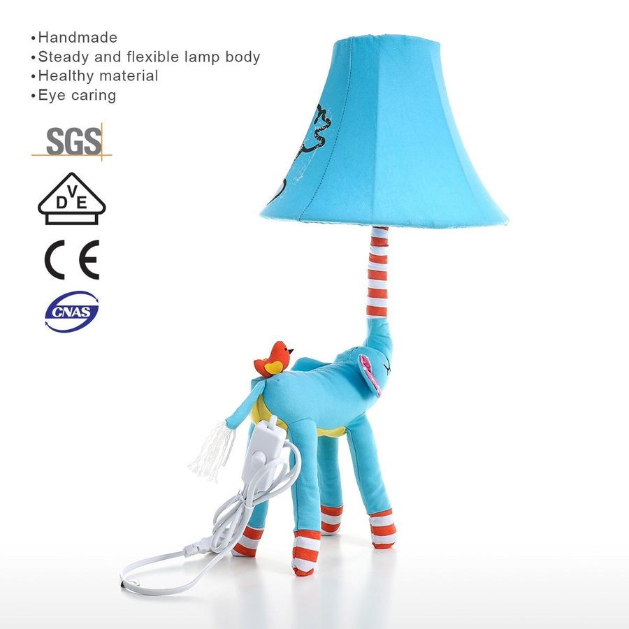 Blue Lamp Elephant Themed Baby, Kids and Nursery, Bedroom Decor