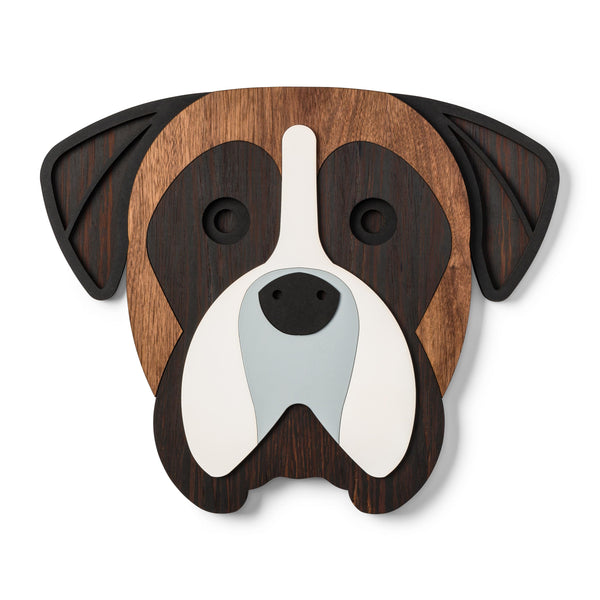 Both dog poster and wooden dog wall art enchants with its natural power