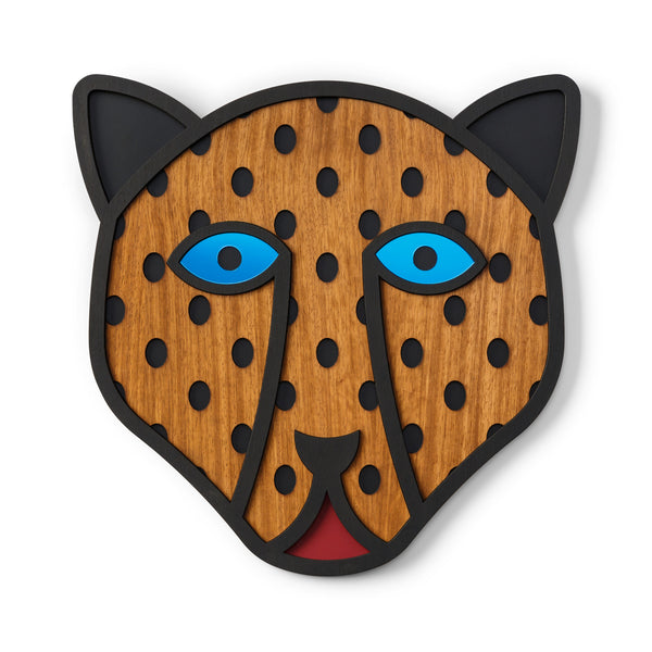 Both leopard wall art and animal head enchant with their natural power