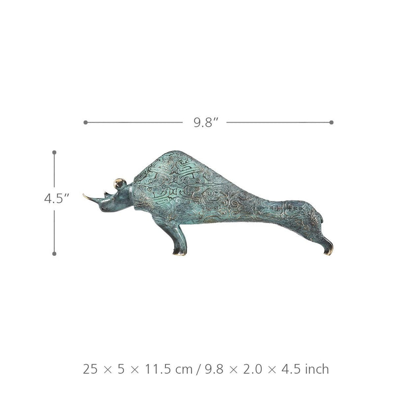Bronze Statue and Bronze Sculpture with Rhinoceros 3D for Home Decor and Living Room Decorations