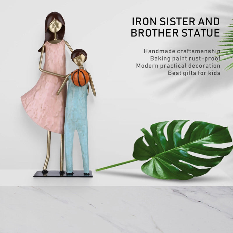 Brother and Sister Figurines