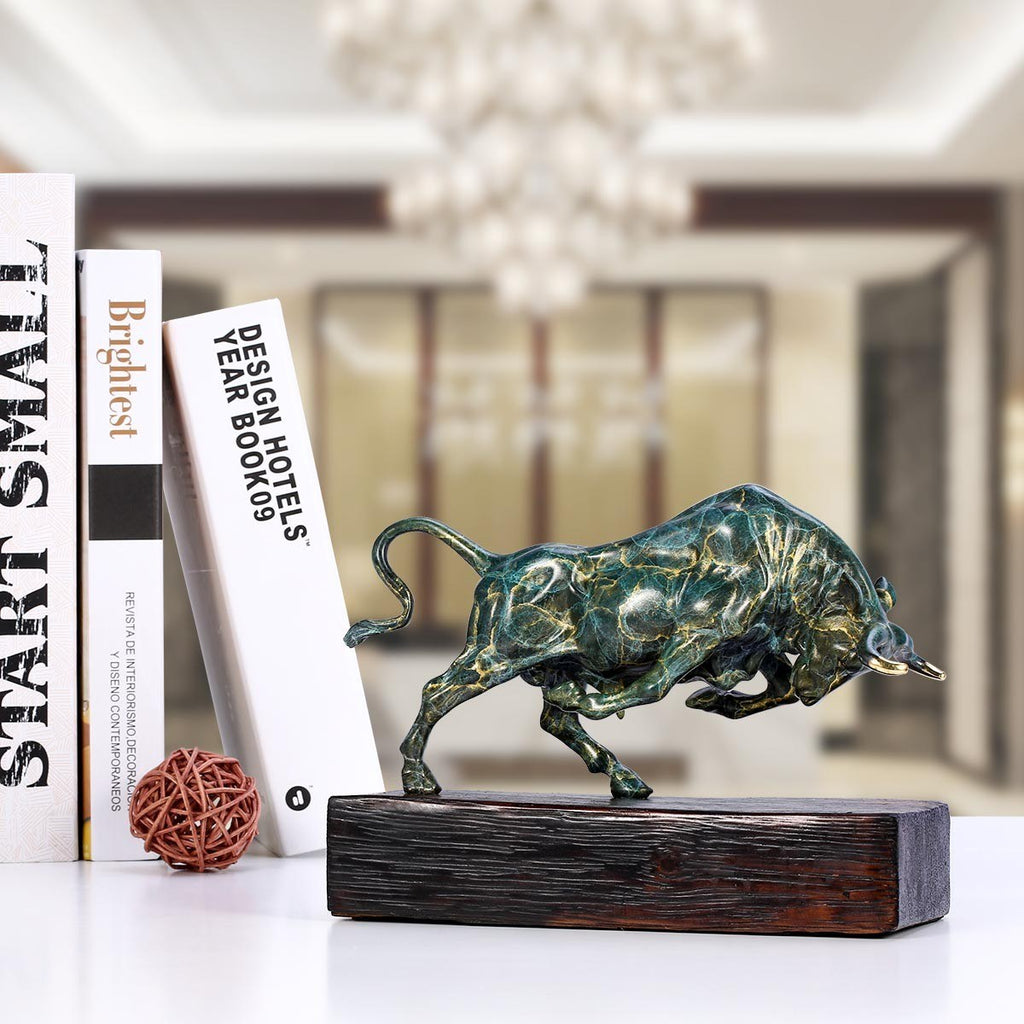 Bull Statue for Home Decor with Bull Desk Statue