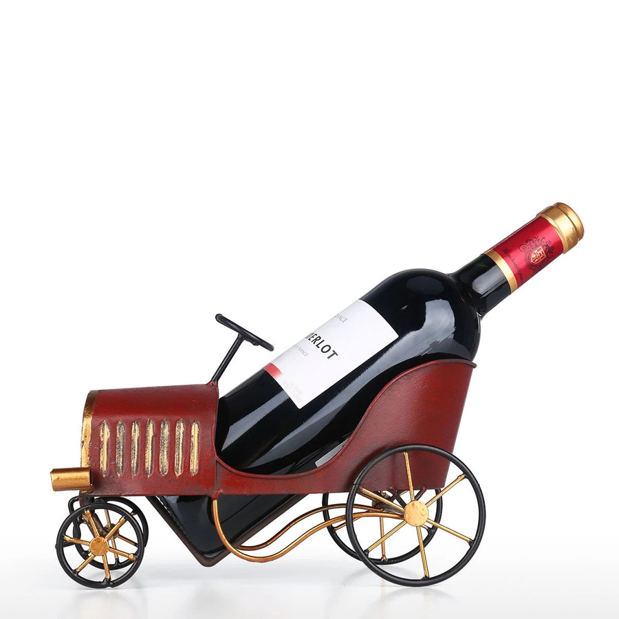 Carriage Home Decor Ornament as Wine Rack and Bottle Holder