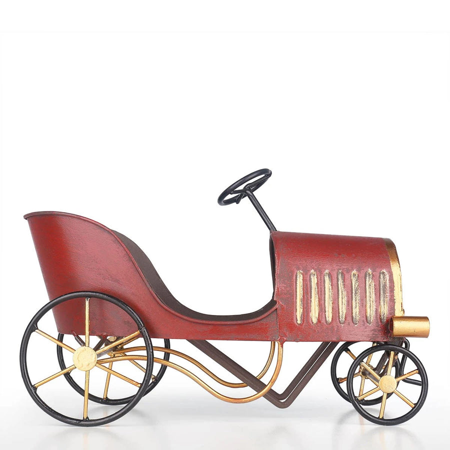 Carriage Toys and Home Decor Ornaments with Metal Statue