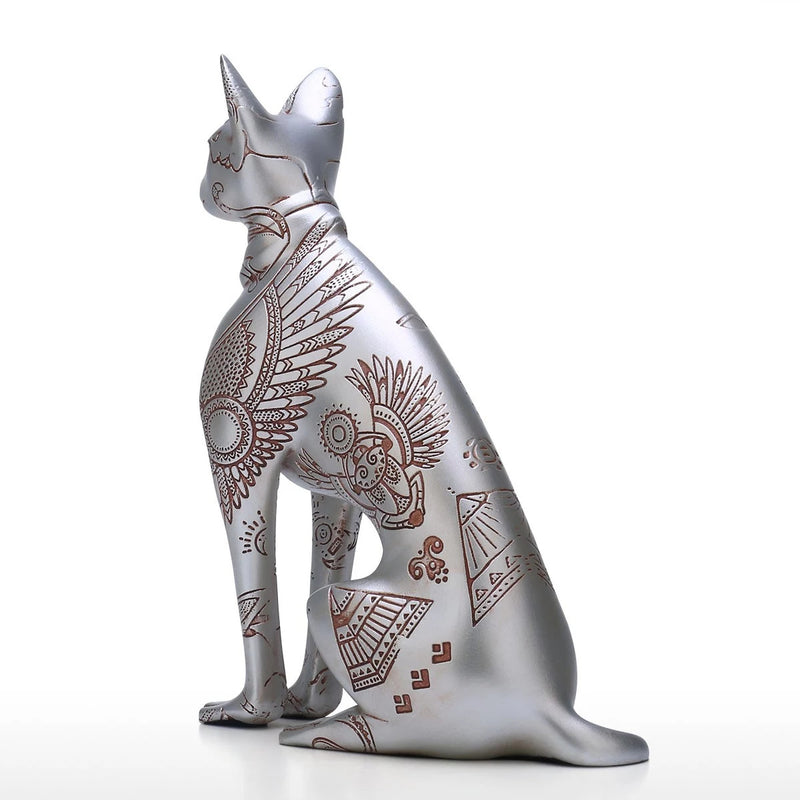 Cat Memorial Statue by Egyptian Cat Sculpture