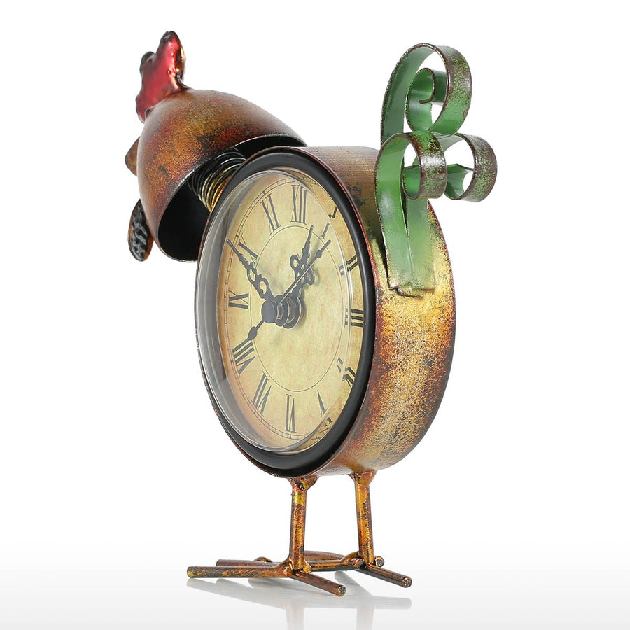Chicken Decor and Metal Chicken Decor with Diy Room Decor and Analog Clock for Christmas Decorations