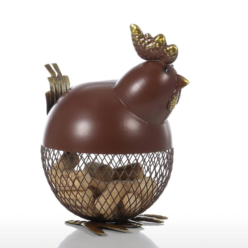 Chicken Figurine Ornament Decorative Jar Farmhouse Kitchen Countertop Decor