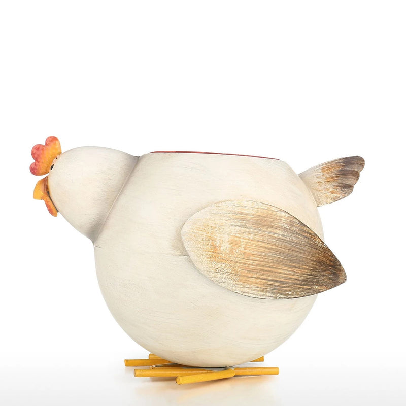 Chicken Kitchen Decor with Small Plant Pot