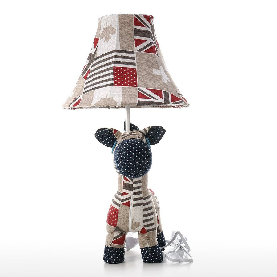 Colorful Bedside Lamp with Horse Toy