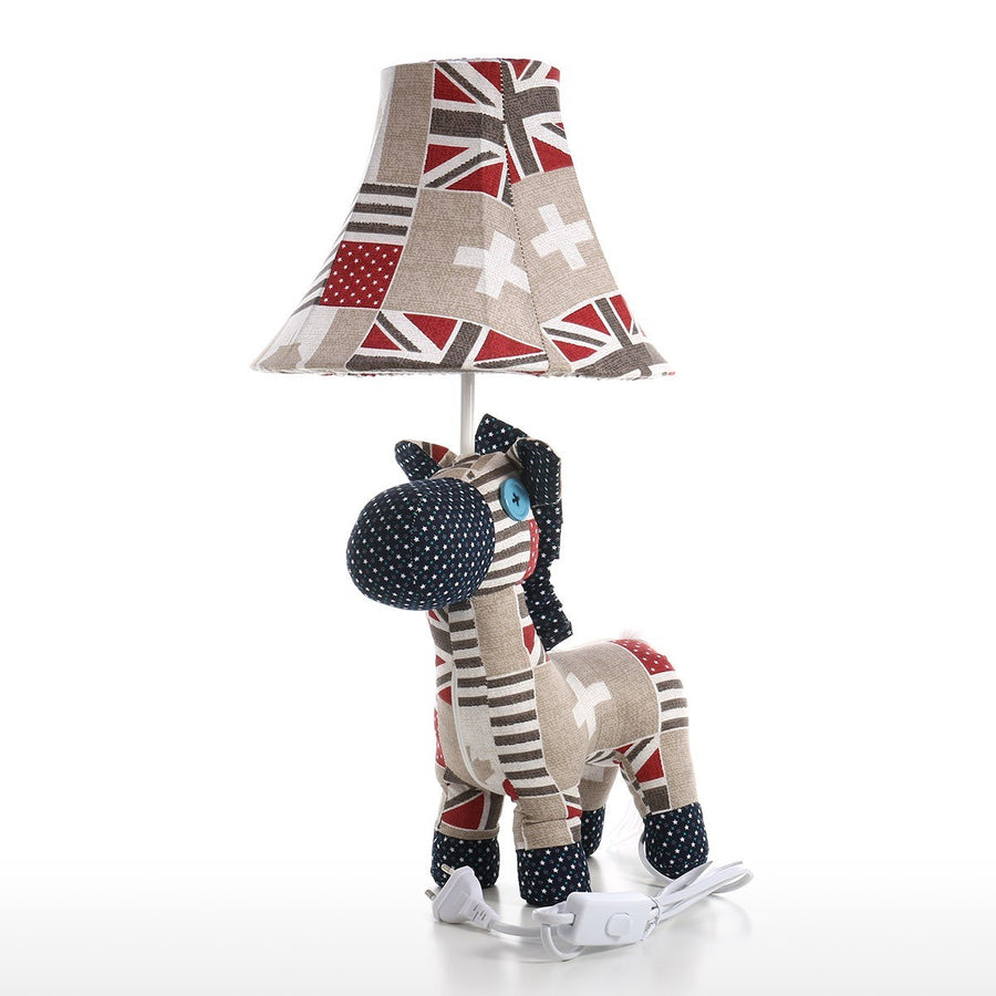 Colorful Horse Fabric Table Lamp and Desk Lamp with Led and Lamp Shades for Table Lamps