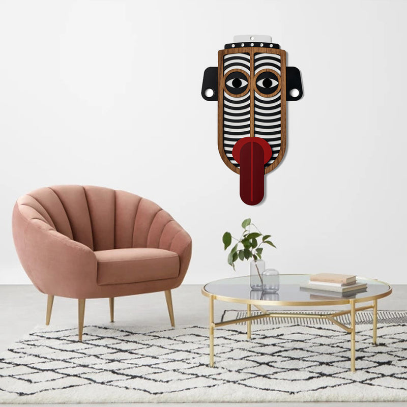 Colorful Tribal and African Masks by Wooden For Boho Decor
