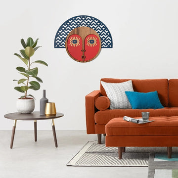 Colorful Wall Decor with Carved Wood Wall art