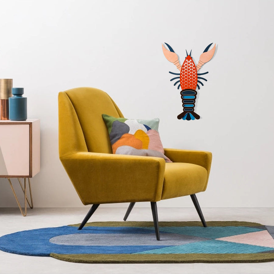 Colorful Wall Decor with Lobster