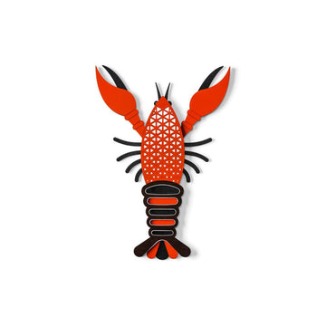 Colorful Wood Lobster Wall Art For Home Wall Decor