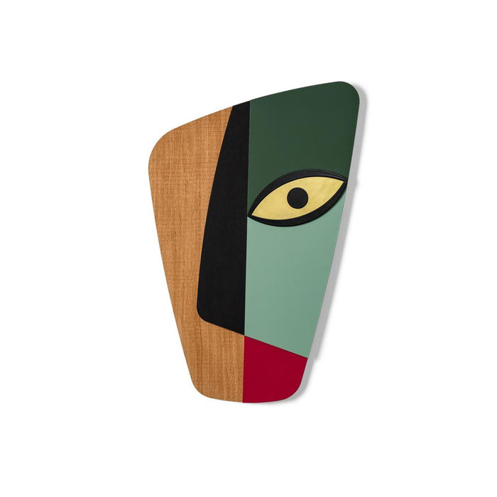 Colorful and Wood Wall Art and Wall Decor with Wood Abstract Handmade Style inspired Pablo Picasso and Cubism for Living Room Wall Decor