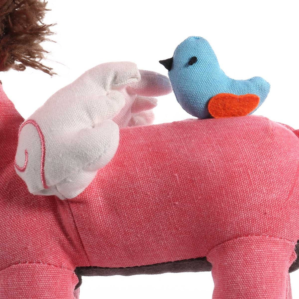 Crochet and Patchwork Pink Unicorn Toys for Girls and Boys