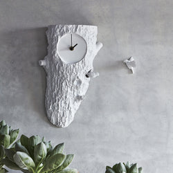 Cuckoo Clock with Modern and Contemporary Details to White Wall Art in the Peace & Naturality Home Decor