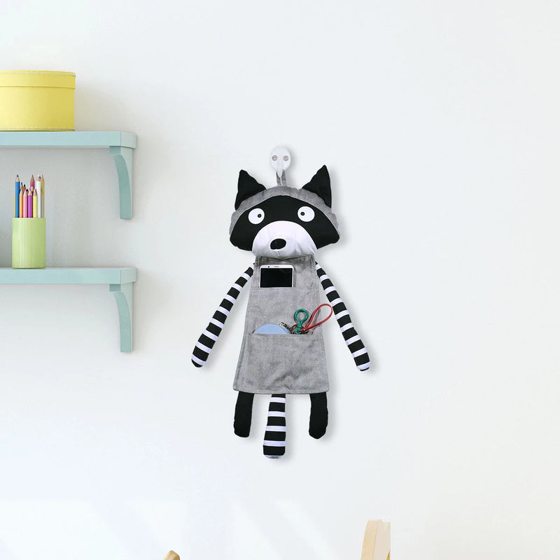 Cute Baby Raccoon Hanging Storage Pocket Nursery Decor, Ornament & Gifts