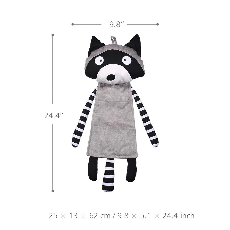 Cute Baby Raccoon Hanging Storge Pocket Nursery Decor, Ornament & Gifts